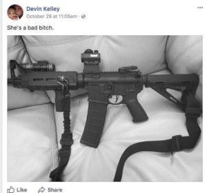 Texas Shooting Devin Kelly Gun Photo Facebook Post